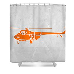 Helicopter Shower Curtain by Naxart Studio