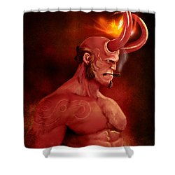 Hellboy Shower Curtain by Jason Longstreet