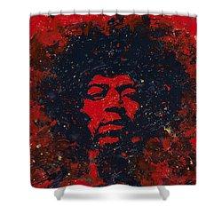 Hendrix Shower Curtain by Chris Mackie