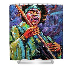 Hendrix Shower Curtain by Debra Hurd