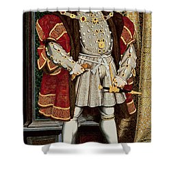 Henry Viii Shower Curtain by Hans Holbein the Younger