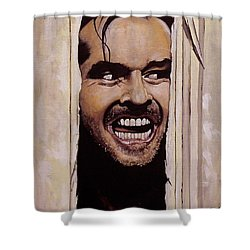 Here's Johnny Shower Curtain by Tom Carlton