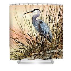 Heron Sunset Shower Curtain by James Williamson