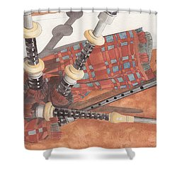 Highland Pipes II Shower Curtain by Ken Powers