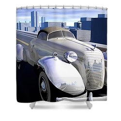 Highway Shower Curtain by Cynthia Decker