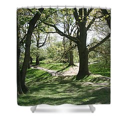 Shower Curtain featuring the photograph Hill 60 Cratered Landscape by Travel Pics