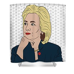 Hillary Clinton I'm With Her Shower Curtain by Nicole Wilson