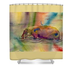 Hippy Dippy Shower Curtain by Amy Kirkpatrick