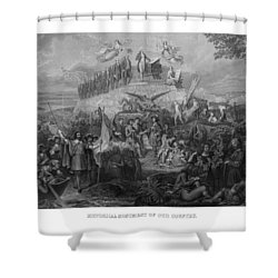 Historical Monument Of Our Country Shower Curtain by War Is Hell Store