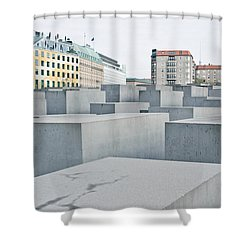 Holocaust Memorial Shower Curtain by Tom Gowanlock