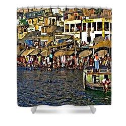 Holy Ganges Shower Curtain by Steve Harrington