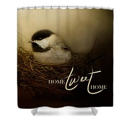 Home Tweet Home With Words Shower Curtain by Jai Johnson