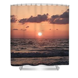 Honey Moon Island Sunset Shower Curtain by Bill Cannon
