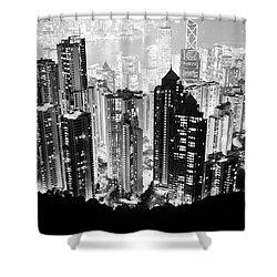 Hong Kong Nightscape Shower Curtain by Joseph Westrupp
