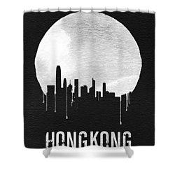Hong Kong Skyline Black Shower Curtain by Naxart Studio
