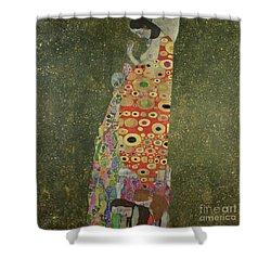 Hope II Shower Curtain by Gustav Klimt