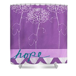 Hope Shower Curtain by Linda Woods