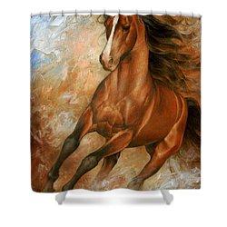 Horse1 Shower Curtain by Arthur Braginsky
