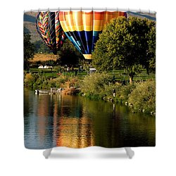 Hot Air Balloon Rally Shower Curtain by David Patterson