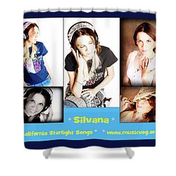Hot Off The Presses Shower Curtain by Silvana Vienne