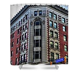 Hotel Lafayette Series 0003 Shower Curtain by Michael Frank Jr