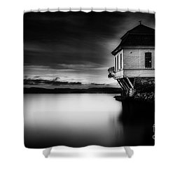 House By The Sea Shower Curtain by Erik Brede