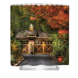 House - Classy Garage Shower Curtain by Mike Savad