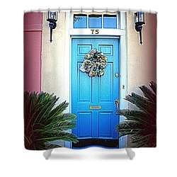 House Door 6 In Charleston Sc  Shower Curtain by Susanne Van Hulst