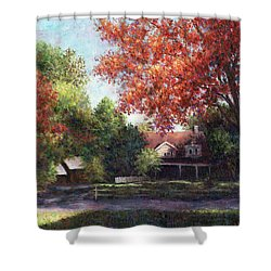 House On The Hill Shower Curtain by Susan Savad