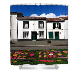 Houses In The Azores Shower Curtain by Gaspar Avila