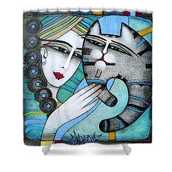 hug Shower Curtain by Albena Vatcheva
