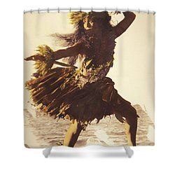 Hula In A Ti Leaf Skirt Shower Curtain by Himani - Printscapes