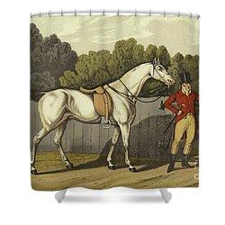 Hunter Shower Curtain by Henry Thomas Alken