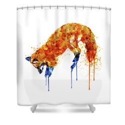 Hunting Fox  Shower Curtain by Marian Voicu
