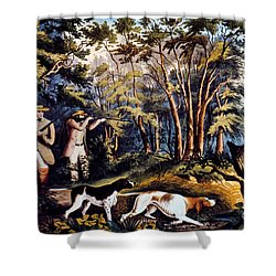 Hunting: Woodcock, 1852 Shower Curtain by Granger
