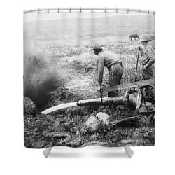 Hydraulic Gold Mining C. 1889 - S. Dakota Shower Curtain by Daniel Hagerman