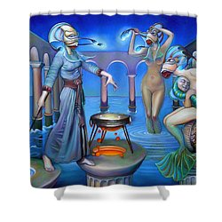 Hydromeda's Kitchen Shower Curtain by Patrick Anthony Pierson