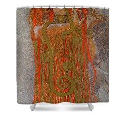 Hygieia Shower Curtain by Gustav Klimt
