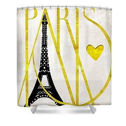 I Love Paris Shower Curtain by Mindy Sommers