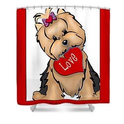 I Love You Shower Curtain by Catia Cho