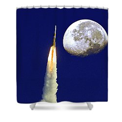 I Need My Space Shower Curtain by Roger Wedegis