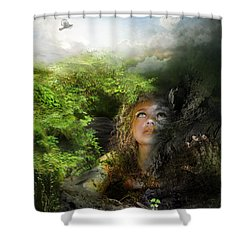 I Will Break Free Shower Curtain by Mary Hood