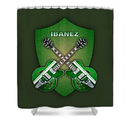 Ibanez Geen Shield Shower Curtain by Doron Mafdoos