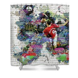 Ibrahimovic  Shower Curtain by Don Kuing