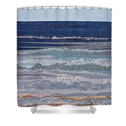 Icarus Flying Shower Curtain by Stanza Widen