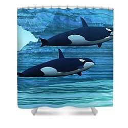 Ice Palace Shower Curtain by Corey Ford