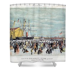 Ice Skaters, C1856 Shower Curtain by Granger