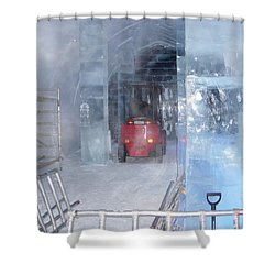 Ice Truck Shower Curtain by Maria Joy