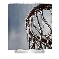 Icy Hoops Shower Curtain by Nadine Rippelmeyer