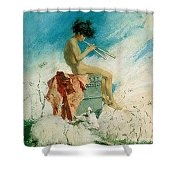 Idyll Shower Curtain by Mariano Fortuny y Marsal